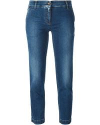 Dolce & Gabbana Cropped Slim Jeans - Lyst