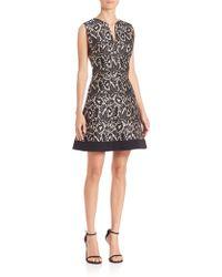 J. Mendel | Printed A-line Dress | Lyst