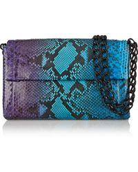 Nancy Gonzalez Crocodile-Trimmed Python Shoulder Bag - Lyst