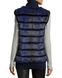 Tasha Tarno - Rabbit Fur Knit-trim Vest - Lyst