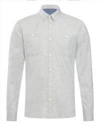 Jaeger Light Flannel Shirt - Lyst