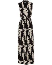 Oasis Oriental Iris Maxi Dress - Lyst