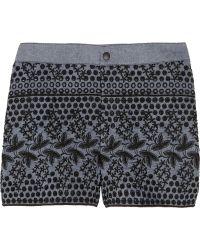 Anna Sui - Chambray Eyelet Shorts - Lyst