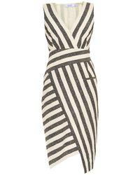 Altuzarra Jessica Blanket-Striped Dress gray - Lyst
