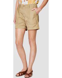 Engineered Garments - High Count Twill Fatigue Short Khaki - Lyst