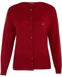Vivienne Westwood Red Label Red Classic Wool Cardi - Lyst