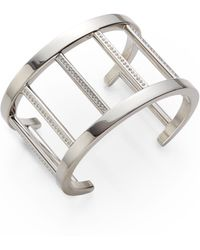 Vita Fede - Pandora Crystal-Accent Cuff Bracelet/Silvertone - Lyst