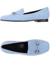 Gucci Moccasins blue - Lyst