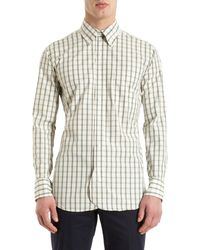 Black Fleece By Brooks Brothers Bordered Check Shirt - Lyst