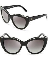 Kate Spade Lesia Cat Eye Sunglasses - Lyst
