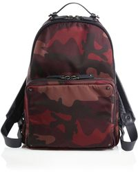 Valentino Camo Leather-Trimmed Nylon Backpack - Lyst