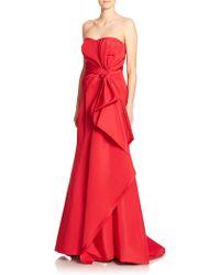 Carolina Herrera Silk Sweetheart Gown - Lyst