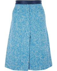 Acne Studios Kier Chevron Skirt - Lyst