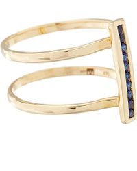 Anna Sheffield - Gold Pave Sapphire Licol Ring - Lyst