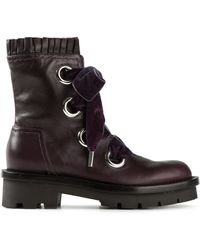 Alexander McQueen Purple Lace-up Boots - Lyst