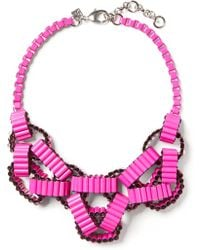 Banana Republic Geo Link Necklace pink - Lyst