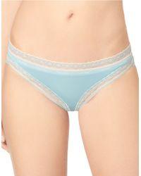 Calvin Klein Lace Trimmed Bikini Panties - Lyst