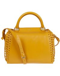 Lanvin - Yellow Trilogy Leather Bowling Bag - Lyst