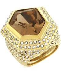 Vince Camuto - Golden Era Faceted And Pave Ring - Lyst