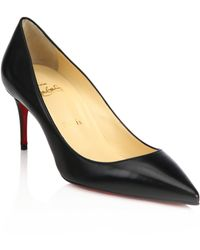 Christian Louboutin | Pigalle Follies Leather Pumps | Lyst