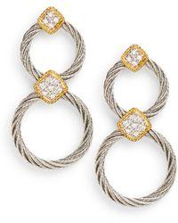 Charriol - Classique Diamond Circle Earrings - Lyst