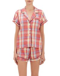 Steven Alan - Plaid Pajama Top - Lyst