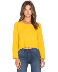 Lucy Paris - Hi-lo Crop Sweater - Lyst