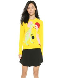 Moschino Cheap and Chic Dino Sweater - Yellow - Lyst