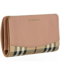 Burberry Cowley Check Wallet - Lyst
