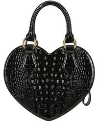 Vivienne Westwood Chancery Heart Printed Faux Leather Bag - Lyst