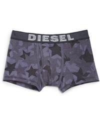 Diesel Star-Print Stretch Cotton Boxer Briefs gray - Lyst