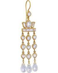 Munnu - 22-Karat Gold Moonstone Earrings - Lyst