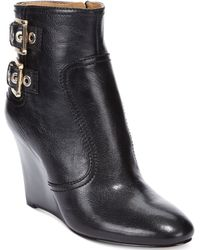 Nine West Herbert Wedge Booties - Lyst