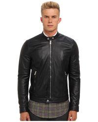 DSquared2 Leather Moto Jacket - Lyst