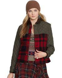 Polo Ralph Lauren Mixed Media Jacket - Lyst