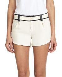 Alice + Olivia - Leather-trimmed Butterfly Shorts - Lyst