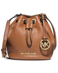 MICHAEL Michael Kors - Jules Leather Bucket Bag - Lyst