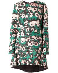 Marni Flower Print Dress - Lyst