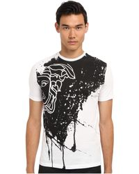 Versace Medusa Placed Print Cotton Tee - Lyst