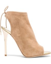 Jimmy Choo Flume Suede Ankle Booties - Lyst