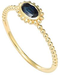 Lagos 'Covet' Oval Stone Caviar Stack Ring gold - Lyst