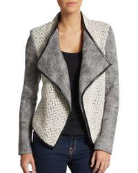 Sachin & Babi Navarre Fleece & Faux Leather Jacket - Lyst