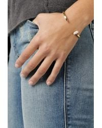 Giles & Brother | Skinny Railroad Cuff W/ Pave | Lyst