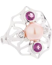 Sarah Ho - Sho - Bluebell Pearl Ring Silver - Lyst