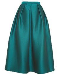 Tibi Simona Jacquard Full Skirt - Lyst
