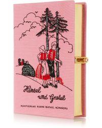 Olympia Le-Tan Hansel Und Gretel Embroidered Clutch - Lyst