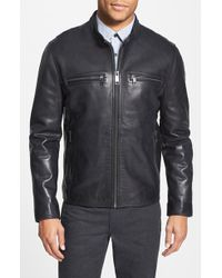 Andrew Marc 'Lamar' Leather Moto Jacket - Lyst