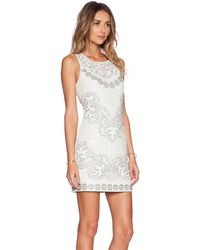 Needle & Thread Floral Cut-Out Mini Dress - Lyst