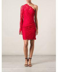 Emilio Pucci One Shoulder Lace Dress - Lyst