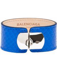 Balenciaga Padlock Bracelet M Python - Lyst